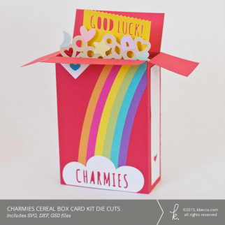 Charmies Cereal Box Card Kit Die Cuts (SVG Included)