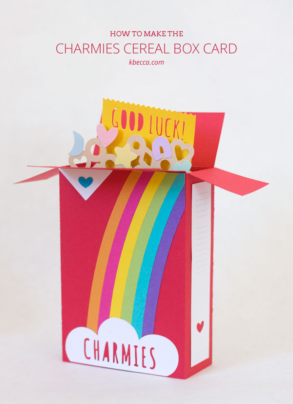 How to Make the Charmies Cereal Box Card