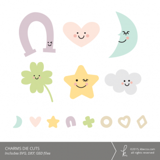 Charms Die Cuts (SVG Files Included)