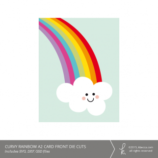 Curvy Rainbow A2 Card Kit (SVG Files Included)