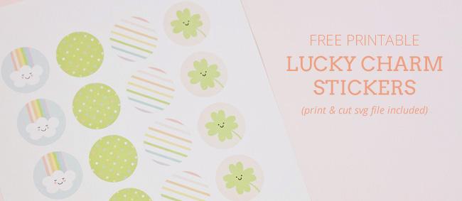 Free Printable Lucky Charm Print & Cut Stickers | kbecca.com