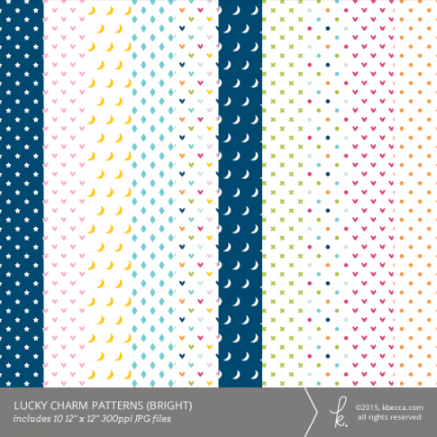 Lucky Charm Digital Papers (Bright)