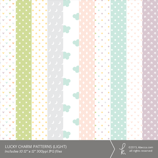 Lucky Charm Digital Papers (Light)