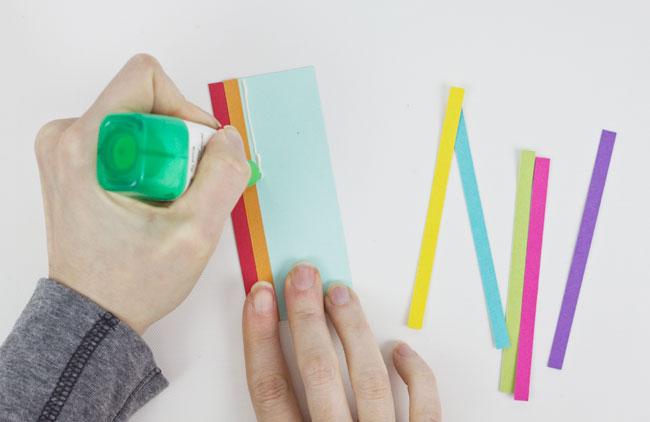 Rainbow Card Die Cuts : Step 1