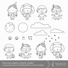 This Is Halloween 2 Digital Stamps (Commercial Licensing Available)