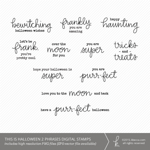 This Is Halloween 2 Phrases Digital Stamps (Commercial Licensing Available)