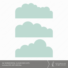 A2 Horizontal Cloud Card Embellishment Die Cuts
