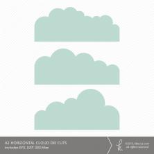 A2 Horizontal Cloud Card Embellishment Die Cuts