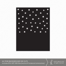 A2 Star Card Backgrounds Die Cuts (Vertical & Horizontal)