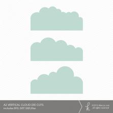 A2 Vertical Cloud Card Embellishment Die Cuts