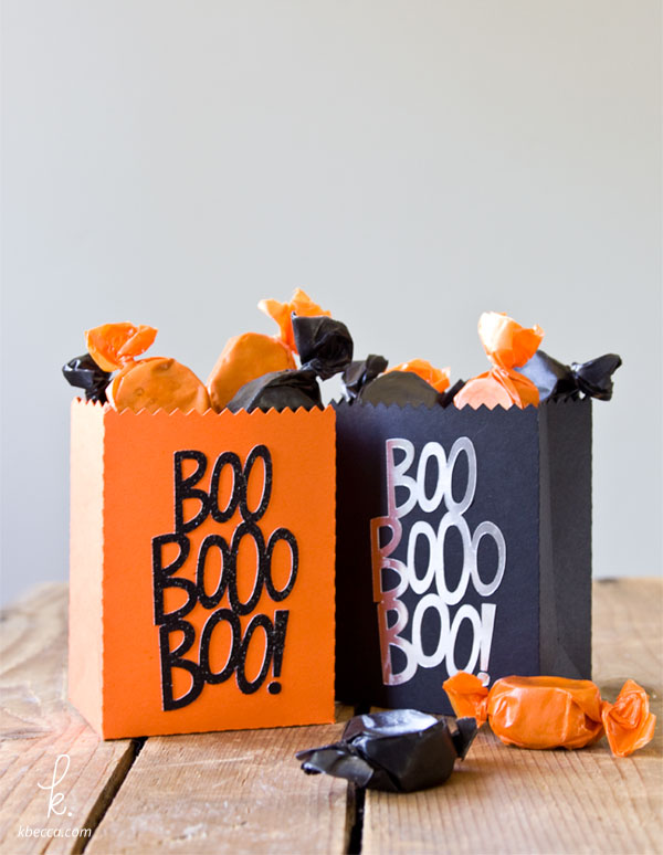 DIY Quick & Easy Die Cut Halloween Treat Bags