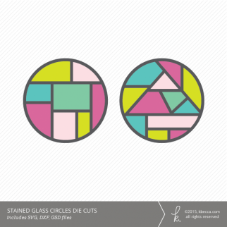 Stained Glass Circle Die Cuts (Commercial License Available)