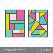 Stained Glass Rectangles Die Cuts (Commercial License Available)