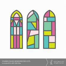 Stained Glass Windows Die Cuts (Commercial License Available)