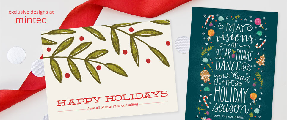 Exclusive Holiday Designs for Minted