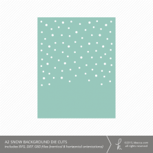 A2 Snow Card Backgrounds Die Cuts (Vertical & Horizontal)