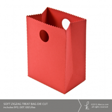 Soft Zigzag Treat Bag Die Cut (Commercial License Available)