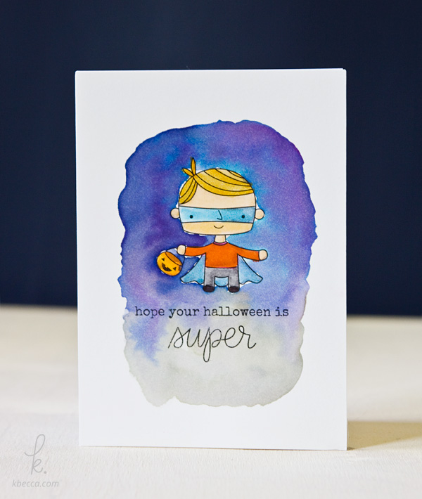 Cute Superhero Print & Cut Halloween Card
