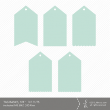 Tag Basics, Set 1 Die Cuts (Commercial License Available)