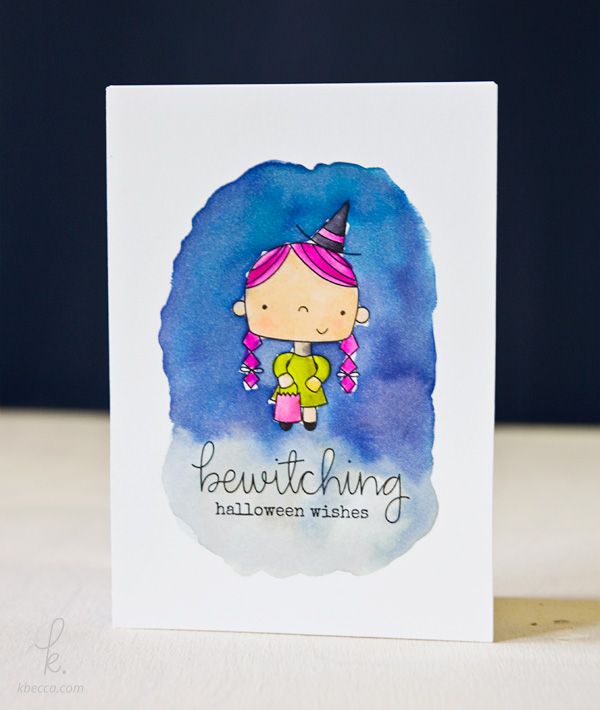 Cute Witch Print & Cut Halloween Card