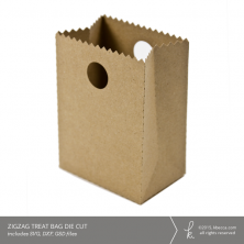 Zigzag Treat Bag Die Cut (Commercial License Available)