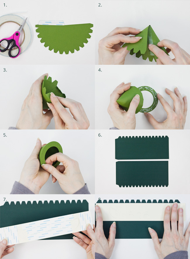 Die Cut Boy Elf Cylinder Box Assembly Instructions, Part 1