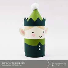 Boy Elf Cylinder Gift Box Die Cuts