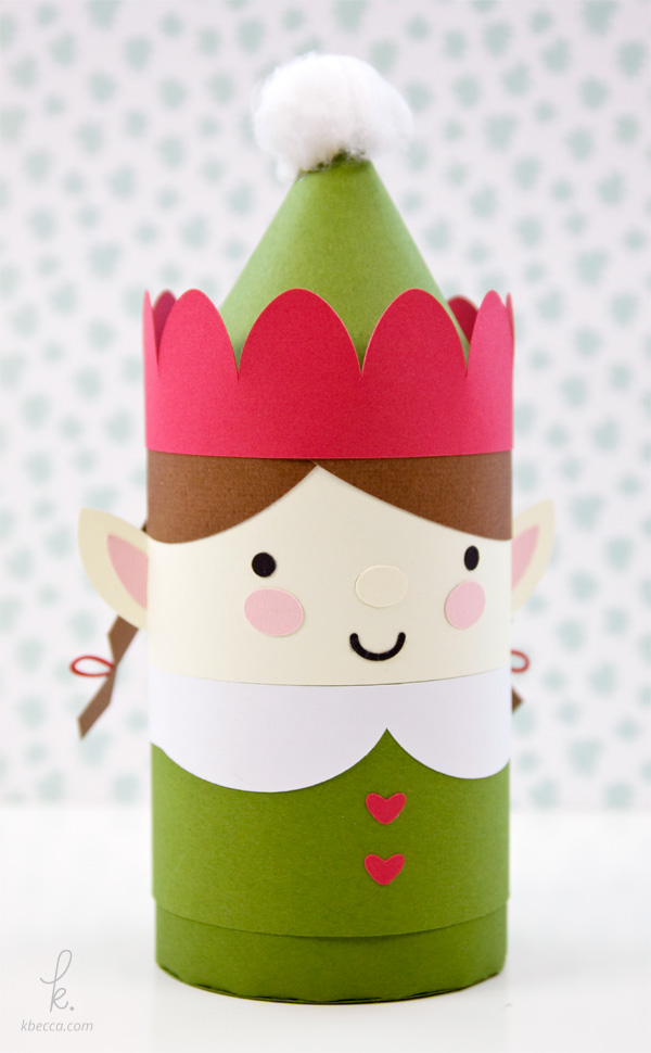 DIY Die Cut Girl Elf Cylinder Gift Box
