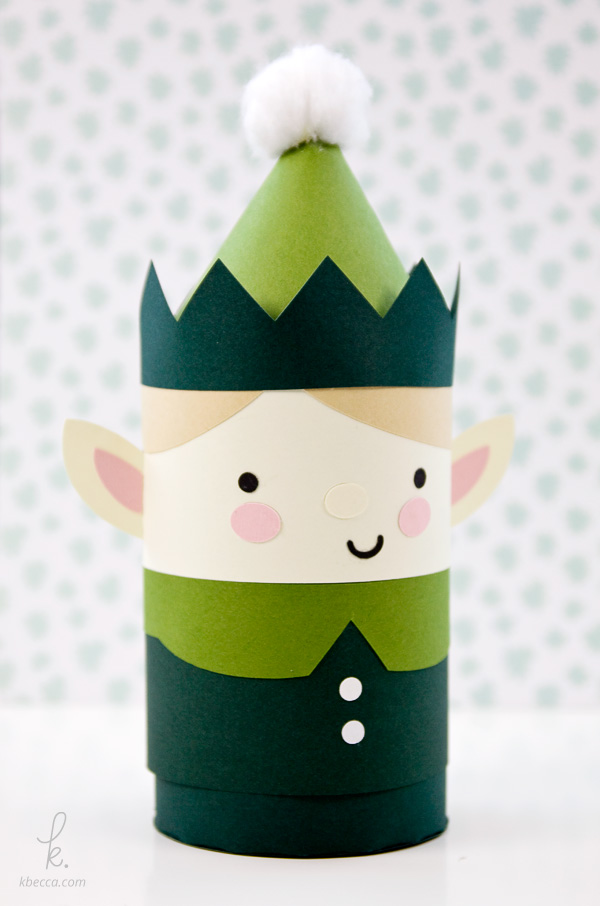 DIY Boy Elf Cylinder Gift Box