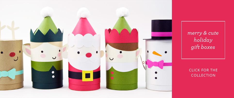 Sweet Holiday Gift Box Die Cut Kits