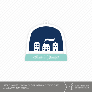 Little Houses Snow Globe Ornament Die Cuts