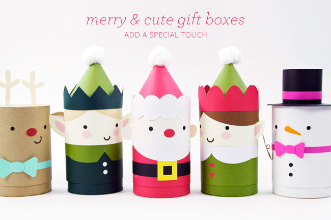Cute Christmas Cylinder Gift Boxes from K.becca