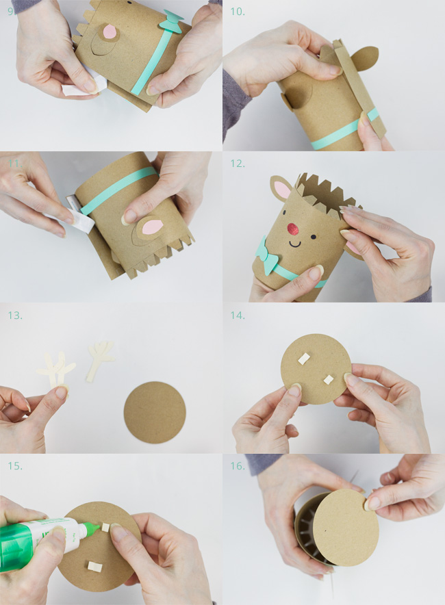 Die Cut Reindeer Cylinder Box Assembly Instructions, Part 2