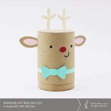 Reindeer Cylinder Gift Box Die Cuts