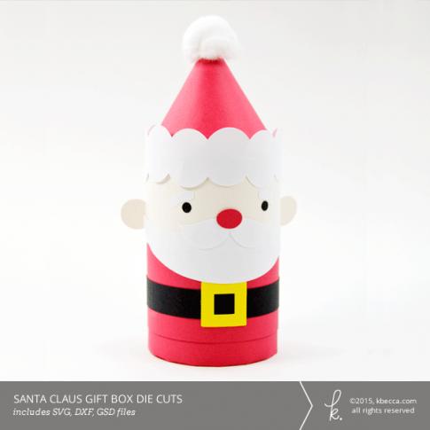 Santa Claus Cylinder Gift Box Die Cuts