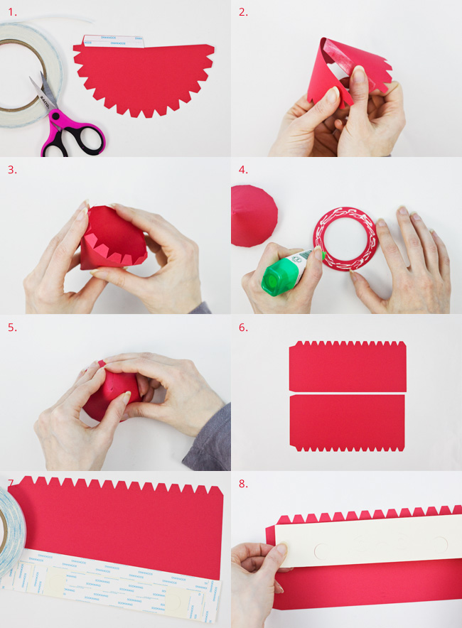 Die Cut Santa Cylinder Box Assembly Instructions, Part 1