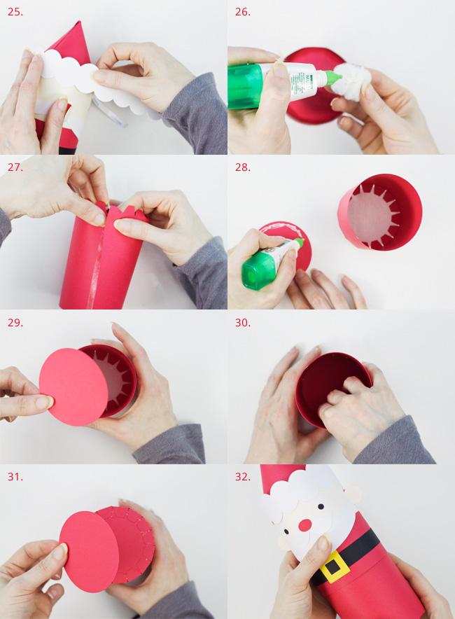 Die Cut Santa Cylinder Box Assembly Instructions, Part 4