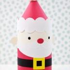 DIY Die Cut Santa Claus Cylinder Gift Box