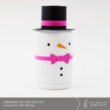 Snowman Cylinder Gift Box Die Cuts