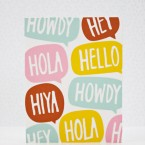 "Make a ""Hello"" Card with a Custom Die Cut Pattern"
