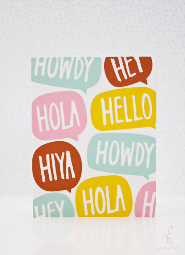 "Make a ""Hello"" Card with a Custom Die Cut Pattern"