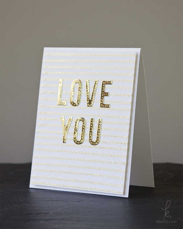 Make a Striped Card Background from Gold Foil Washi Tape