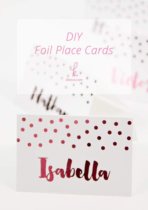 DIY Foil Place Cards with the Heidi Swapp Minc