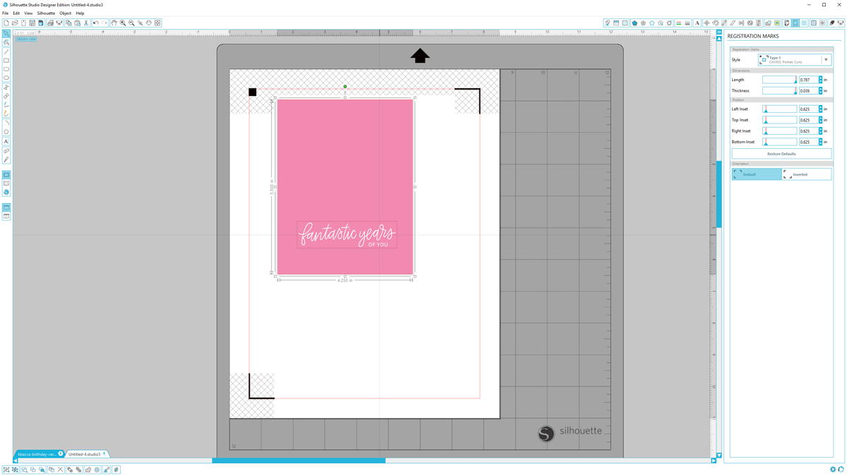 DIY Iridescent Foil Birthday Card Tutorial (Silhouette Studio)