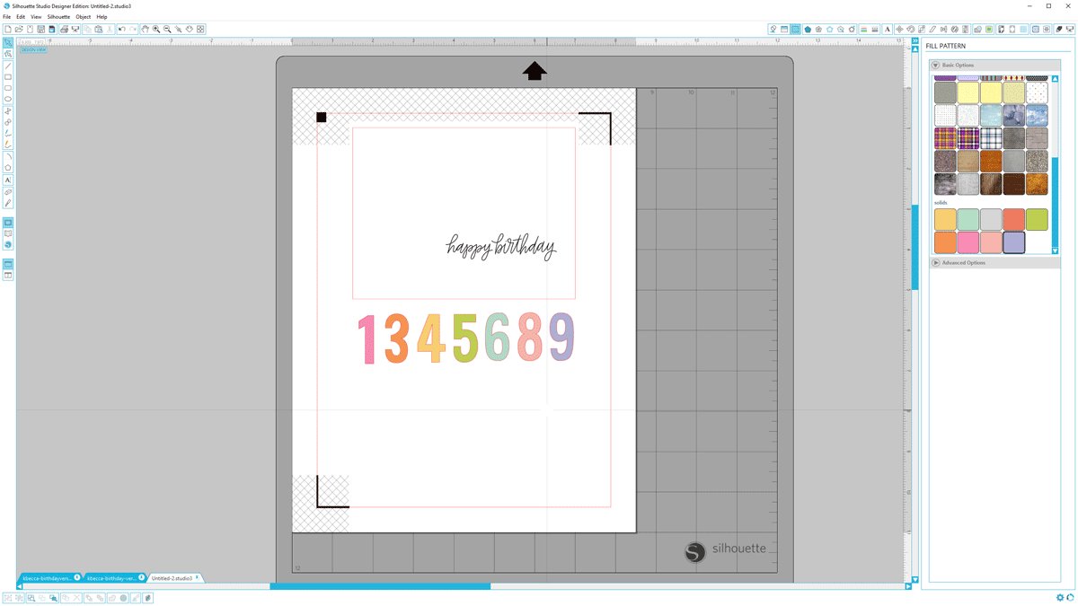 Print & Cut Birthday Card - Silhouette Studio Tutorial