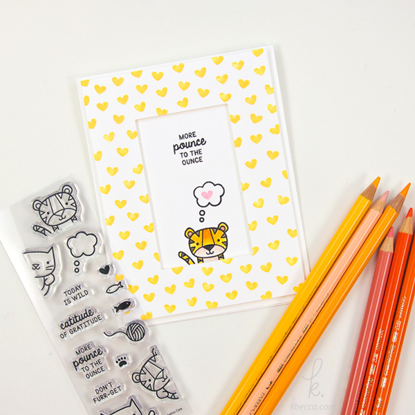 Cardmaking with Peekaboo Cats from Sweet Stamp Shop