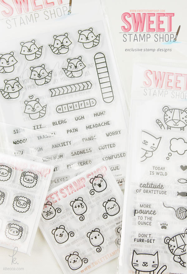 Exclusive Stamp Set Designs by K.becca for Sweet Stamp Shop's June 2016 Release