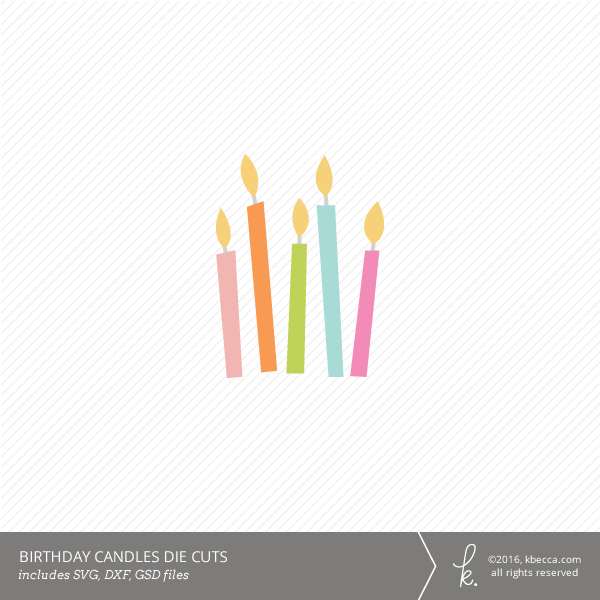 Birthday Candles Die Cuts (SVG Files Included)