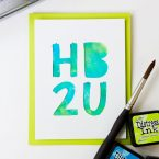 Distress Ink Watercolor Background Birthday Card