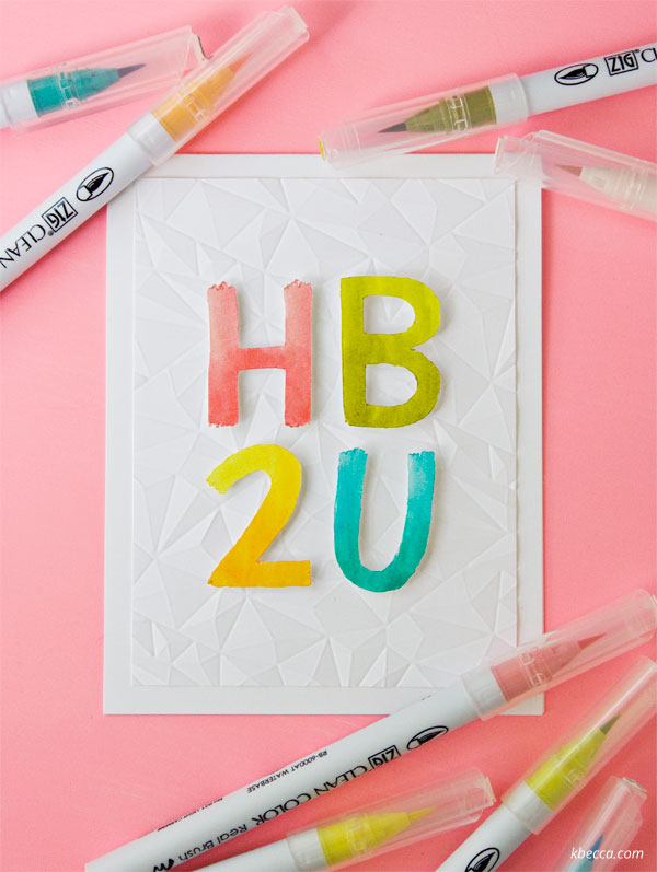 Video Tutorial : Zig Clean Color Real Brush Pen Birthday Card